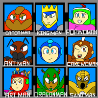 My Robot master selection by TheStarTraveler