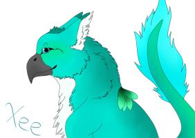 Xee-Darrot(BlueVesper Species) by Redwolfless