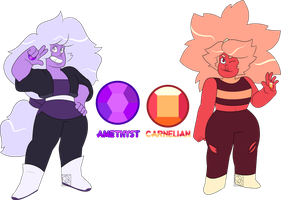 Mystery Adopts- Amethyst and Carnelian by XombieJunky