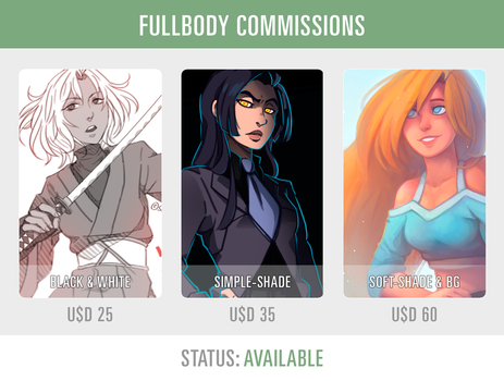 FULLBODY COMMISSIONS [AVAILABLE] by SorceressDream