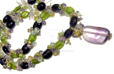 Multi Gemstone Necklace by Bella1892