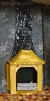 Steampunk House Kitchen Fireplace Detail by Kyle-Lefort