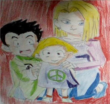 Krillin, Android 18 and Marron by CatCamellia