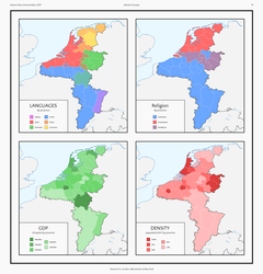 Demographics of the Kingdom of Lotharingia by HouseOfHesse