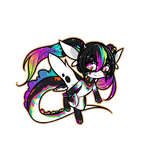 Almond Badge Chibi by LucciolaCrown