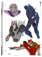 Sketchbook 01 - Decepticons by Angelcat55