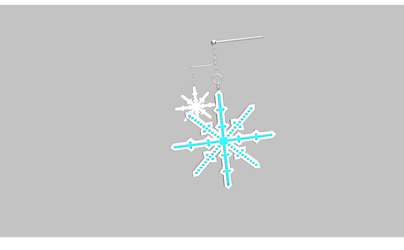 MMD snowflake earrings by amiamy111