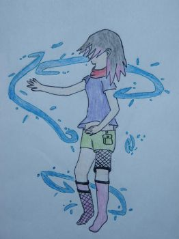 Girl.. with water. by Cucumber69