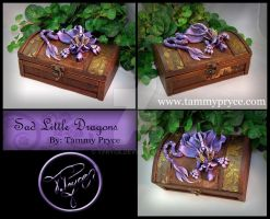 Purple Dragon on Small Old World Chest by Tpryce