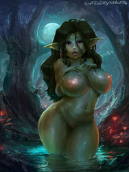 cm#299 goblin in a pond by cutesexyrobutts