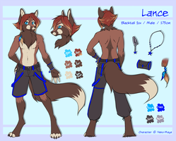 Lance the blacktail fox - ref by Neotheta