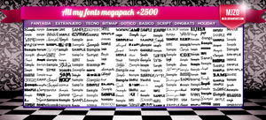 All my fonts megapack +2500 by Mjzo