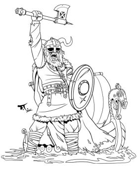 Viking tattoo lineart by PsychoCaptain