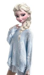 Modern Queen Elsa - Blue Snowflake Sweater by drpepperswife