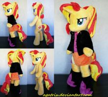 Sunset Shimmer (anthro) plush by agatrix
