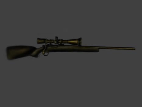 Sniper rifle,Speed painting by D-Itachi