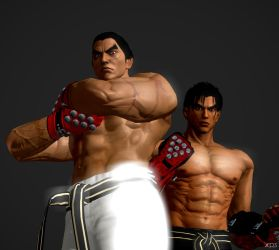 Father and Son by The3DBrahmaBull