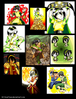 Toph tribute -past accounts- by Oz-suka