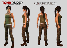 Lara Croft - Clean Hunter Outfit Download by hellenys