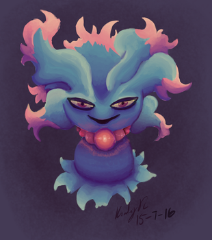 Painting Practice: Misdreavus by AbyssinChaos