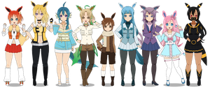 :~ The Eeveelutions ~: by SakuraRoseLily