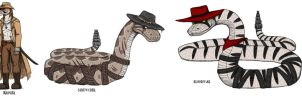Rango Characters by BlueRavenfire