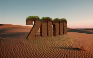 3d oasis text effect 2010 year by ribhu