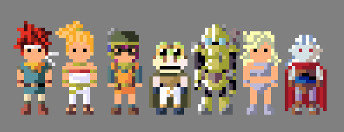Chrono Trigger Characters 8 bit by LustriousCharming