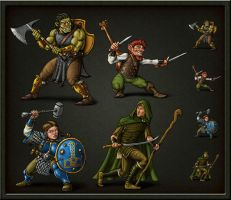 Character Tokens by quellion
