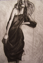 charcoal model by a2zunder