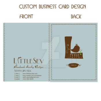 custom business card design by claustrawberry