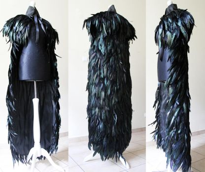 Feather cape with pelerine II by Pinkabsinthe