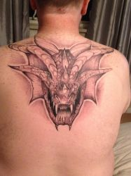 My Dragon head tattoo by LuntPhotography