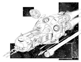 Battletech - Fox Class Corvette. by sharlin