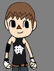 villager as dean ambrose by ChunkyTheLunatic