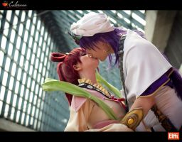 Sinbad and Kougyoku - Magi - Love is in the air by Elffi