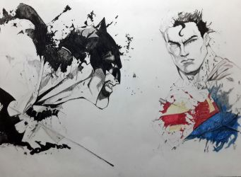 Superman Vs Batman by itsusmanmirza