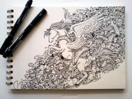COMMISSIONED WORK: Winged by kerbyrosanes