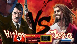 Hitler VS Jesus by Pazero