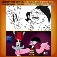 Mighty MagiSwords Storyboards - Stealing From Me by artbylukeski