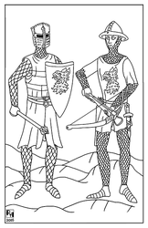Knight and Crossbowman by Sapiento