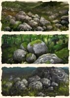 Stones (study) by ThornSpine