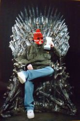 Fonejacker on Iron Throne by savagehenry89