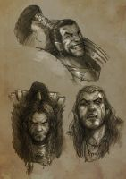 Ragnar Bust sketches by slaine69