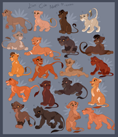 Lion King Cub Adoptables by Kitchiki