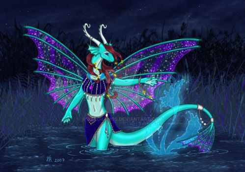 Butterfly Dragoness by VeroRamos