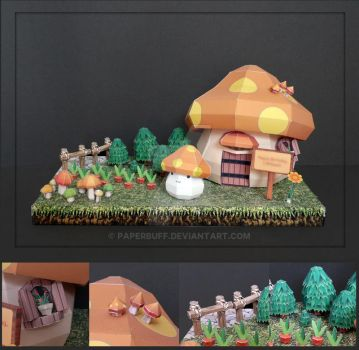 Maple Story House Papercraft by PaperBuff