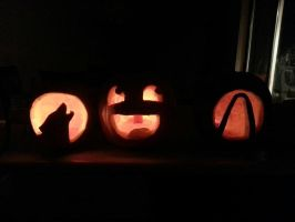 Halloween 2012 Pumpkins! by sugarpoultry