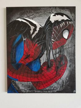 Symbiote Spider-Man  by TheJennaBrown