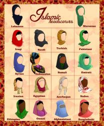 Islamic Headscarves by ArsalanKhanArtist